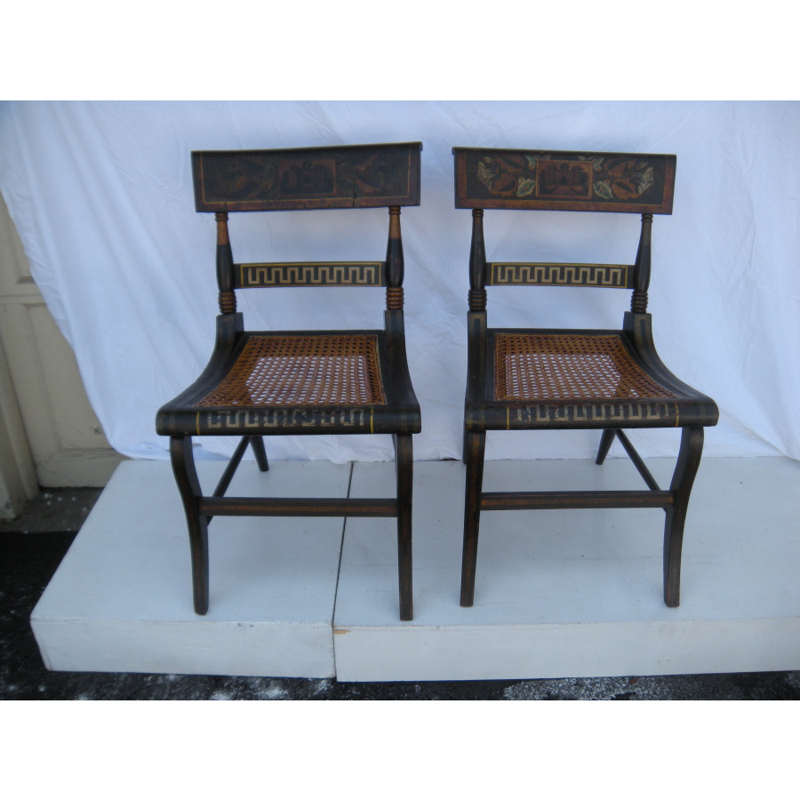 Pair of Baltimore Fancy Chairs - Antique Dealers Association Of America - Pair Of Baltimore Fancy Chairs