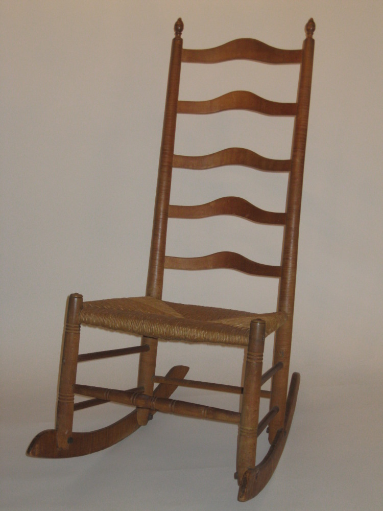 Ware Ladderback Rocking Chair - Antique Dealers Association Of America - Ware Ladderback Rocking Chair
