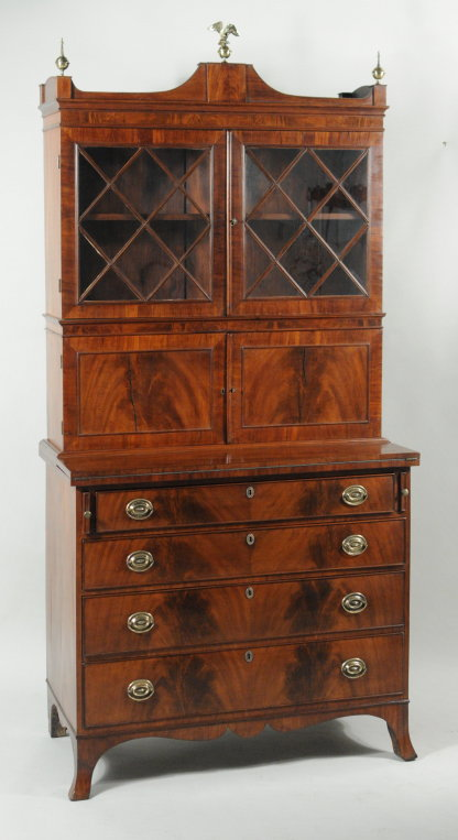 Antique Dealers Association of America - Hepplewhite Mahogany Secretary Desk - Antique Dealers Association Of America - Hepplewhite Mahogany