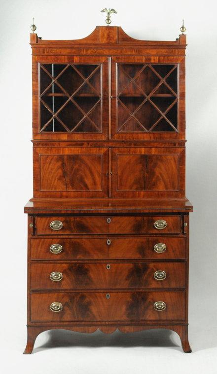 Hepplewhite Mahogany Secretary Desk - Antique Dealers Association Of America - Hepplewhite Mahogany