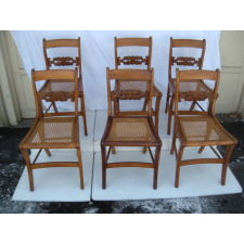 six tiger Maple Chairs, Circa 1825