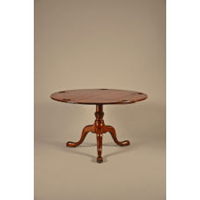 Red leather top games table