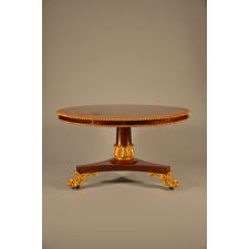 William IV rosewood and burl ash center table