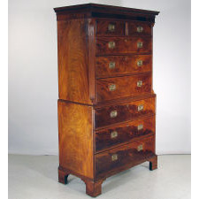 Mahogany Chest on Chest