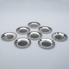 Erik Magnussen for Gorham Sterling Silver Art Deco Bread Plates, set of 8, 1927